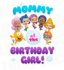 bubble guppies iron on transfer mommy of the birthday