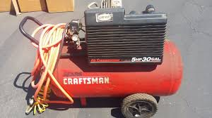 sears craftsman 5hp 30 gallon 125 max psi 12 8cfm horizontal air