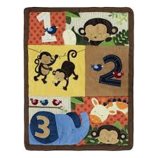Safari Nursery Bedding Sets by Belle Crib Bedding Set Jungle Safari Theme 123 Zoo Buddies 8