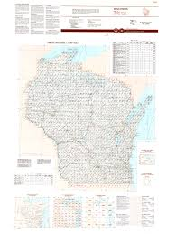 Wisconsin Topographic Map by Topographic Maps Indexes Surrounding States Indiana University