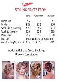 wedding hair prices pricing list hairstyle avenue