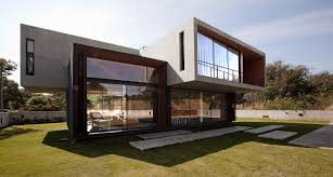top concrete glass wood house home interior design simple modern