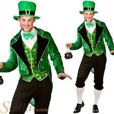 Leprechaun Halloween Costume Ideas Mens Deluxe Leprechaun Irish St Patricks Fancy Dress Costume