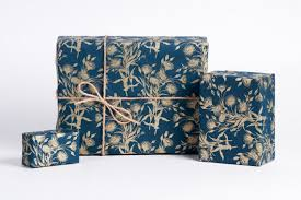 navy blue wrapping paper bouquet of gold wrapping paper navygold