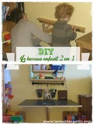 le bureau enfant diy le bureau enfant gain de place 2 en 1 la cour des petits