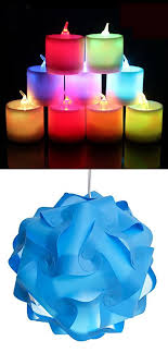l shades by size modern puzzles l shade with 1 pcs colorful led candle light