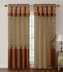 Valances For Living Room Windows by Living Room Curtains With Valance Amazon Com