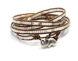 wrap bracelet with beads images Elephant bead wrap bracelet jpg