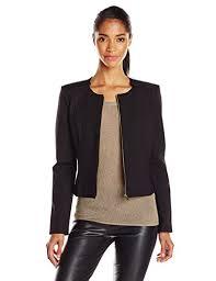 calvin klein women u0027s zip front suit jacket style pinterest