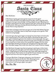 letters from santa christmas letters from santa templates free best template idea