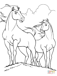 spirit rain horses coloring free printable coloring pages