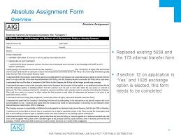Assignment Form For Financial Professional Use Only Not For Public Distribution