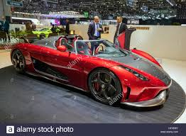 koenigsegg red geneva switzerland march 8 2017 2018 koenigsegg regera sports
