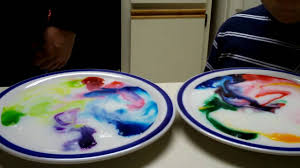 fun with science milk food coloring and dish soap youtube