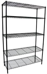 5 Tier Wire Shelving by Lowe U0027s 5 Tier Black Wire Shelving Unit 49 Today Only
