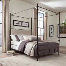 donny osmond home lanchester queen canopy bed with upholstered