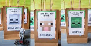 minecraft party with free printables