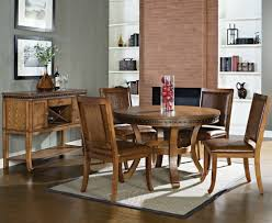 Circle Dining Room Table by Modus Bossa 6 Piece Round Dining Room Set In Dark Homelegance