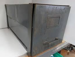 vintage metal file cabinet vintage brumberger steel industrial file cabinet paper safe 44 95