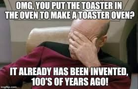 Toaster Meme Captain Picard Facepalm Meme Imgflip