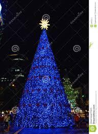 blue tree editorial photo image of decoration 35833211