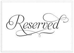 reserved signs for wedding tables free printable reserved seating signs for your wedding ceremony
