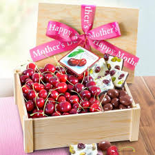 Gourmet Chocolate Gift Baskets Happy Mother U0027s Day Fresh Cherries And Gourmet Chocolate Crate