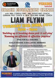 free coaching clinic with liam flynn werribee basketball