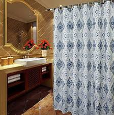 84 Shower Curtains Extra Long Amazon Com Welwo Shower Curtain Paisley Shower Curtain Sets With