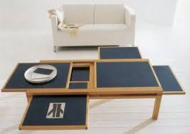 pull out table go go gadget coffee table hexa and tetra pull out tables treehugger