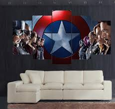 five panels of famouse movie paintings men and women hd picture