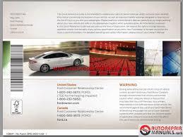 Ford Fusion 2015 Usa Workshop Manual Auto Repair Manual Forum