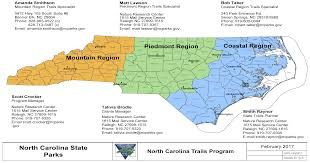 Map Of Nc State by North Carolina Trails Program Nc State Parks