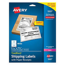 amazon com avery shipping label with paper receipt laser