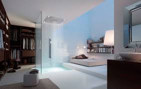 Bathroom With Open Shower 17 Open Living Spaces That Blur The Line Between Bedroom And Bathroom