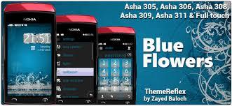 themes nokia asha 308 download blue flowers theme for nokia asha 305 asha 306 asha 308 asha 309