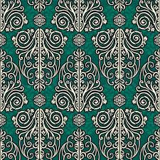 cheap christmas wrapping paper vintage style rich pattern luxury vector green wallpaper
