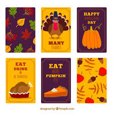 various creative thanksgiving cards vector free