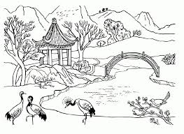 spring landscape coloring page disney spring coloring time spring