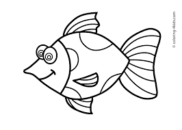 printable fish coloring pages for kids color page pictures of koi