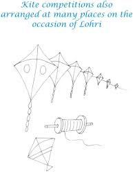 lohri kite competition coloring printable page