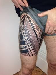 53 tribal tattoos on thigh