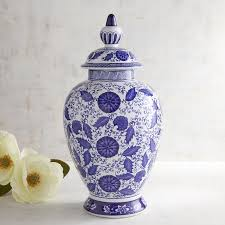 large blue u0026 white ginger jar pier 1 imports