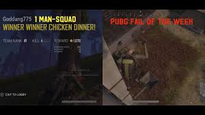 pubg 1 man squad pubg 1 man squad chicken dinner on the xbox one x bonus pubg fail