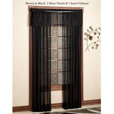 Black Valances Emelia Sheer Swag Valances And Window Treatments