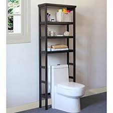 Over The Toilet Table Amazon Com Jeco Space Saver Over The Toilet Rack In Brown Home