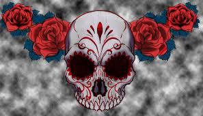 sugar skull tattoo design with colors by esferograffico on deviantart