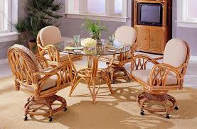 Dining Room Sets With Wheels On Chairs Attractive Dining Room Table And Chairs With Wheels With Modest