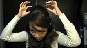 poof at the crown hairstyle princess hair tutorial snookie poof youtube
