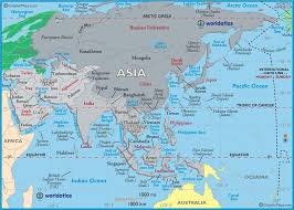 map of asai large map of asia easy to read and printable